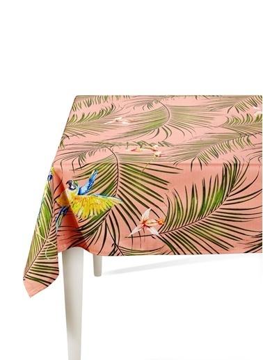 The Mia Parrot Masa Örtüsü - 230 x 150 Cm - Pembe Renkli